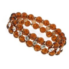 2028 Jewelry Chérie Amber Beaded Crystal Bracelet found on Polyvore