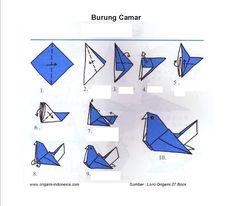 Langkah-langkah membuat Origami Burung Camar   Fachri's Blog