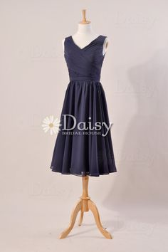 Modest Navy Blue Bridesmaid Dress Aline Navy by DaisyBridalHouse, $105.00