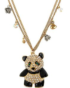 PANDA PENDANT BLACK WHITE accessories misc. gifts high top