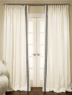 Grosgrain Ribbon Trimmed Drapes