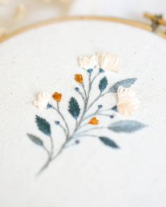 Beautiful, contemporary embroidered florals stitched by @sometimeinspring For more embroidery inspiration, visit DMC.com to see our hundreds of FREE patterns. Owl Patterns, Lace Patterns, Cross Stitch Embroidery, Hand Embroidery, Crochet Embellishments, Crochet Cord, String Art Patterns, Flamingo Pattern, Headband Pattern