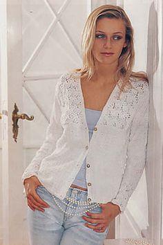 Pattern Free Ravelry: 74-21 Lacy cardigan in Muskat pattern by DROPS design