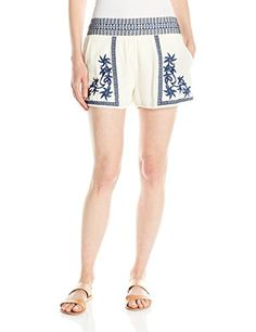 Clothing, Shoes & Jewelry > Women > Clothing > Shorts > Casual > Lucky Brand Women's Embroidered Short, Blue/Multi, Medium Get Price Side. Shorts Outfits Women, Short Outfits, Short Dresses, Casual Outfits, Short Women Fashion, Womens Fashion, Spring Shorts, Casual Shorts, Women's Shorts