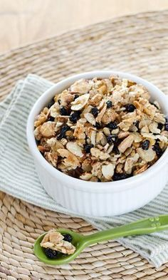 This blueberry pecan paleo granola is super-fast  and its gluten-free and grain-free. Try it for breakfast or as a grab-and-go snack any time of the day.