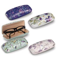 Punch Studio's Eyeglass Cases: Each glossy printed hardshell eyeglass case has a soft interior for scratch-free protection Eyeglass case size: 6 x 2 x Pill Boxes, Eyeglasses, Punch, Sunglasses Case, Cases, Studio, Printed, Interior, Gifts