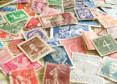 carry the vintage stamp theme through? escort cards? bar signs? programs?