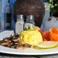 Breakfasts at Ons Huisie Calamari, Fish And Chips, Mussels, Beef, Dishes, Breakfast, Food, Kitchens, Meat