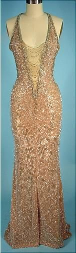 "Bob Mackie gown worn by Cher to the 1983 Academy Awards when she was nominated for Best Supporting Actress in ""Silkwood""."