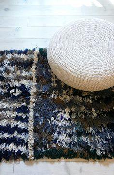 Vintage Moroccan Rag Rug  BOUCHEROUITE gray por lacasadecoto, €145.00