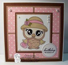 Owl-Ways Rosie on card sample designed by Helen www.craftinghelen.blogspot.com