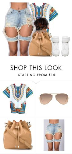 """Untitled #440"" by christianna-futrell ❤ liked on Polyvore featuring Ray-Ban, Proenza Schouler and Maison Margiela"