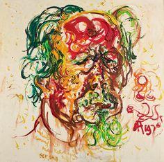 "amare-habeo: ""  Affandi (Indonesian, 1907 - 1990) Self Portrait, 1970 Oil on canvas, 92 x 92 cm """