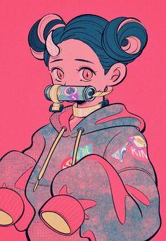 Read Kimetsu No Yaiba / Demon slayer full Manga chapters in English online! Kawaii Anime, Arte Do Kawaii, Kawaii Art, Manga Anime, Anime Demon, Manga Art, Fan Art Anime, Anime Art Girl, Cartoon Kunst