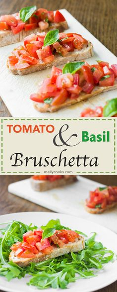 Tomato Basil Bruschetta is a simple vegan Italian side dish or starter, perfect for sharing. Top your toast with this magical combination of flavours.