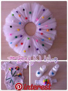 Trendy crochet baby skirt no sew Diy Tutu, Crochet For Kids, Sewing For Kids, Baby Sewing, Crochet Baby, Free Crochet, Tutus For Girls, Dresses Kids Girl, Kids Outfits