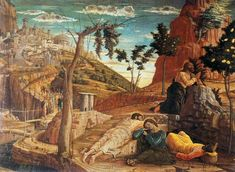 Andrea Mantegna. Agony in the Garden 1457-59 Tempera on panel, 72 x 94 cm Musée des Beaux-Arts, Tours