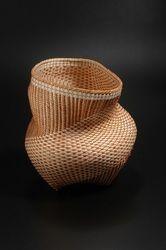 Polly Adams Sutton-Portfolio Japanese Bamboo, Weaving Art, Basket Weaving, Decorative Bowls, Art Pieces, Sculpture, Contemporary, Strands, Weave