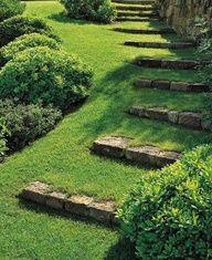 hillside stair case layout - Google Search