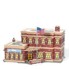 Department 56 Snow Village Northgate School Lit Building * See this great product. (This is an affiliate link) Department 56 Christmas Village, Dept 56 Snow Village, Alpine Village, Christmas Village Display, Christmas Villages, Christmas Houses, Nostalgic Images, Halloween Village, Light Building
