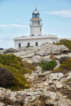 The Lighthouse at Cap de Cavalleria, Menorca Lighthouse Sketch, Bass Harbor Lighthouse, Lighthouse Storm, Lighthouse Decor, Lighthouse Lighting, Lighthouse Painting, Menorca, Ibiza Formentera, Argentina South America