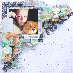 Layout made with the Prima Zella Teal Collection
