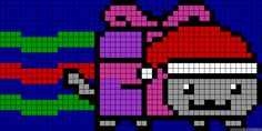 Christmas present/Santa nyan cat alpha bracelet pattern