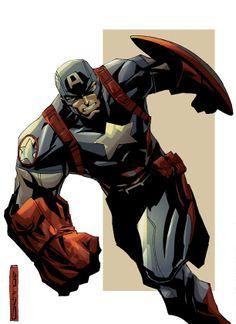 Captain America by J. C. Grande