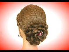 Hair made rose. Wedding hairstyles for long hair - YouTube