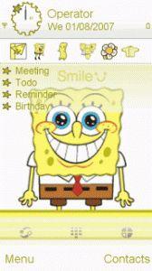 ○.Ŝṗŏňğβŏβ.○ 5228, 5230, 5230 Nuron, 5233, 5235 Music Edition, 5250, 5530 Xpress Music, 5800 XpressMusic, C5-03, C6-00, N97, N97 mini, X6, X6 16GB, X6 8GB, C5-04, C5-05, C5-06, 603, 600, X7-00, C6-01, N8. Spongebob, Bart Simpson, Cartoon, Mini, Happy, Fictional Characters, Sponge Bob, Ser Feliz, Cartoons