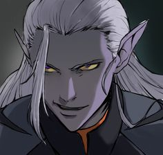 Im trying to draw lotor in various anime styles for fun and this is one of them (Death note) But I felt little sorry to Lotor cuz he looks so evil in this painting lol