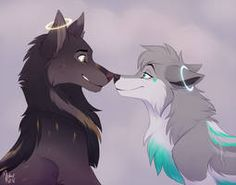 anime wolf [CM] King and Clair by Mistrel-Fox Pet Anime, Anime Furry, Anime Animals, Anime Wolf Drawing, Furry Drawing, Cute Fantasy Creatures, Mythical Creatures Art, Furry Wolf, Furry Art