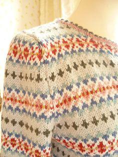 My Farm Cardigan Fair Isle Knitting Patterns, Fair Isle Pattern, Knitting Designs, Knit Patterns, Knitting Projects, Punto Fair Isle, Fair Isle Pullover, Fair Isles, Baby Knitting