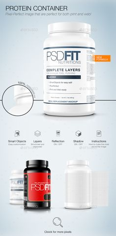Protein Container — Photoshop PSD #white #creatine • Available here → https://graphicriver.net/item/protein-container/15912473?ref=pxcr