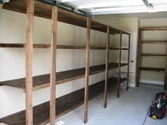 Garage Shelving Ideas: Best Way To Organize Your Stuff: Garage Shelving  Ideas With Wood