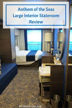 Large interior stateroom with a virtual balcony from Anthem of the Seas photo review