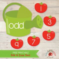 FREE Printable Odd and Even Number Sort Game