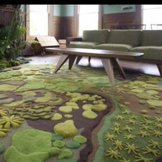 "Angela Adams carpet. wow. This would be amazing in a ""nature themed"" play room! :)"