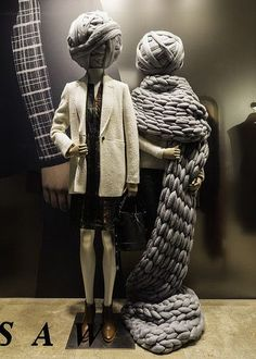 """JIGSAW,Sydney,Australia, """"Knitting gets your mind of your problems"""", pinned by Ton van der Veer Winter Window Display, Window Displays, Jigsaw Clothing, Country Living Fair, Spring Books, Wool Shop, Quick Knits, Yarn Store, Crochet Dishcloths"""