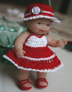 PDF PATTERN Crochet 5 inch Berenguer Baby Doll by charpatterns, $5.00 http://www.etsy.com/listing/75297820/pdf-pattern-crochet-5-inch-berenguer?ref=shop_home_active