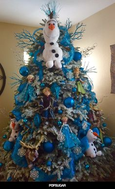 Frozen Themed Christmas tree I created :) | Shanny's pins ...