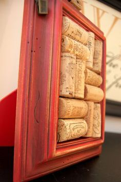 I have a thing for wine corks?? :)  Great gift idea! :)