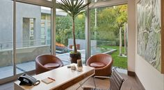 There's also an office with a view of the lush backyard.  (McClean Design)