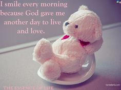 Reason to smile Teddybear, Smile, Humor, Toys, Quotes, Animals, Cancer Awareness, Breast Cancer, Whimsical