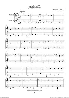 Christmas Carols. Christmas Sheet Music and Carols (all the collections for two violins, first page preview. Click to download the actual, high resolution PDF file.