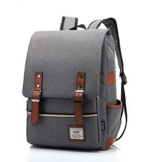 Cheap mochila men, Buy Quality backpack rucksack directly from China mochilas vintage woman Suppliers: Retro Men Male canvas Backpack College School Student Backpacks Vintage Rucksack Travel Bag Laptop bags women bag Mochila Mochila Hipster, Mochila Retro, Backpack For Teens, Backpack Bags, Fashion Backpack, Travel Backpack, Travel Bags, Retro Backpack, Chic Backpack