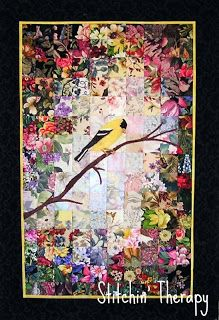 'Persistence' Watercolor Quilt by Debbie/Stitchin' Therapy