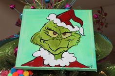 Grinch Handprint Art | Cindy also had these cute little Grinch, fuzzy-headed ornaments on her ...