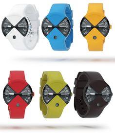 Die Designer vom Art Lebedev Studio in Moskau haben eine coole Uhr entwickelt. Die Sektorus fällt gleich durch die knalligen Farben und ihre besondere Form auf. Das Besondere: Das Armband geht direkt in die Uhr über und es gibt zwei getrennte Ziffernblätte