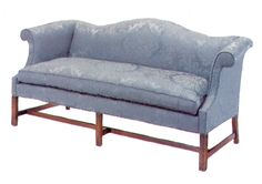 Chatham House Chippendale Camelback Sofa